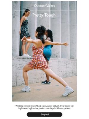 One new print. Three best-selling, sweat-ready styles