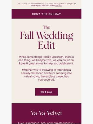 Rent the Runway - Cue the wedding bells!