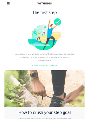Withings - The keys to staying active each day