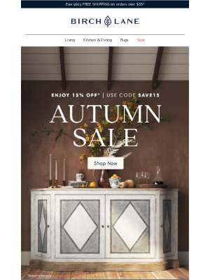 Birch Lane - STARTS NOW >> Autumn Sale >> 15% OFF