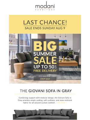 Modani Furniture - The BIG Summer Sale Extended  ☀️ | Final Weekend
