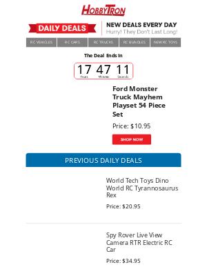 HobbyTron - $10.95 -Ford Monster Truck Mayhem Playset 54 Piece Set