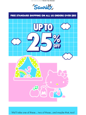 Sanrio - 🎈Up to 25% Off Sale Items 🎈