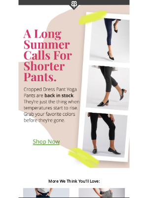 Summer's Coming — Are Your Pants Ready?