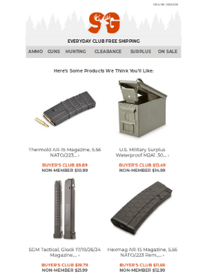 Sportsman's Guide - Top Products Picked For You