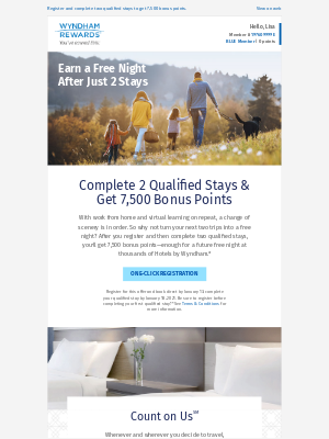 Wyndham Hotel Group - Your Chance to Earn a Free Night Is Inside