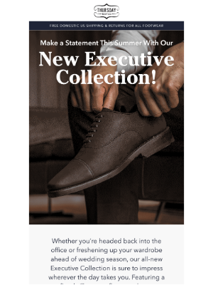 Thursday Boot Company - Our New Dress Shoes Are Here!