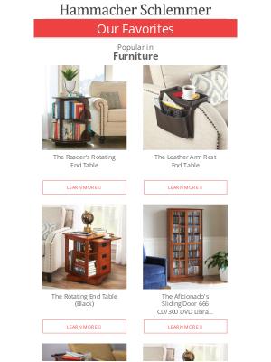 Hammacher Schlemmer - The Reader's Rotating End Table & More Favorites in Furniture