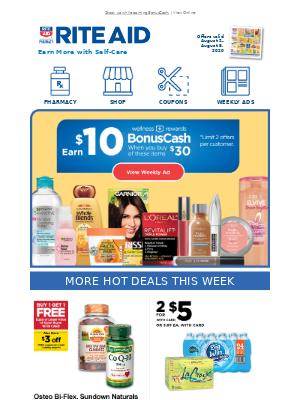 This Week's Best Deals: Earn $10 in BonusCash!