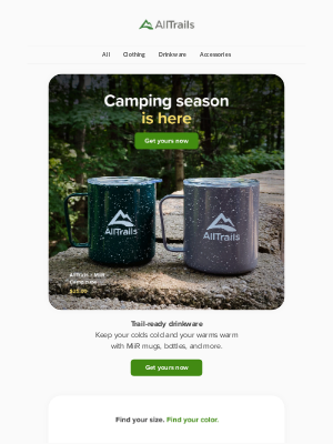 AllTrails - AllTrails x MiiR: mugs, can coolers, and more!