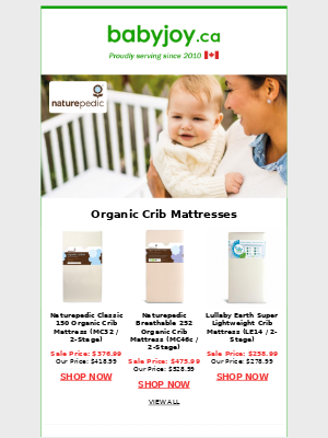 Limited time only! Save upto $180 on Organic CRIB & VERSE Mattresses + Low Shipping Fees!