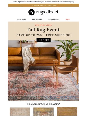 Rugs Direct - Cozy Up For Fall With New Styles + Great Savings! 🍁
