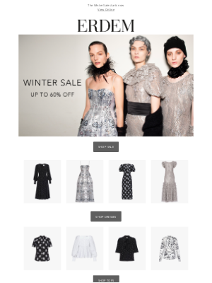 Erdem Moralioglu Ltd (UK) - Sale now on - up to 60% off