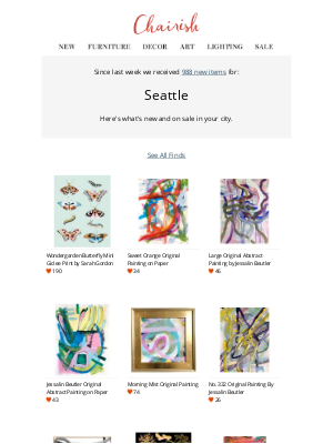 Chairish - Virtually support Seattle's local sellers: See 988 new arrivals today