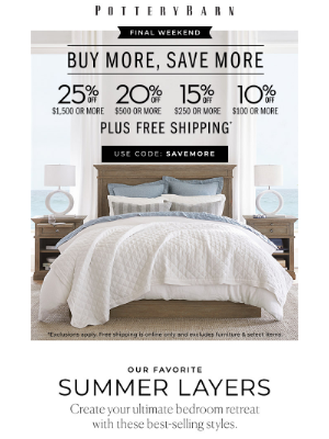 Make a dreamy bed: up to 30% off