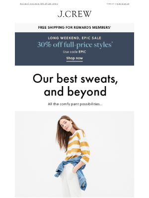 J.Crew - Our best sweats, and beyond