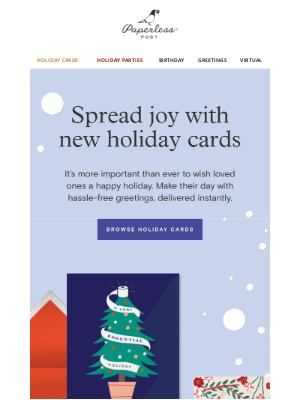 Paperless Post - New holiday cards to brighten up their 2020