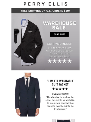 Perry Ellis - Your Destination for a Sleek-As-Ever Suit