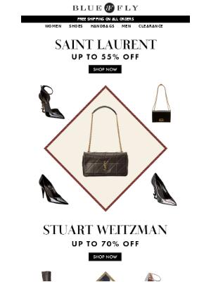 Saint Laurent up to 55% Off + Stuart Weitzman up to 70% Off