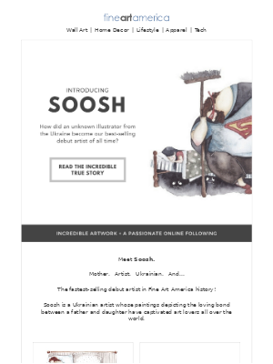 Fine Art America - Introducing Soosh... Our Best-Selling Debut Artist of All Time