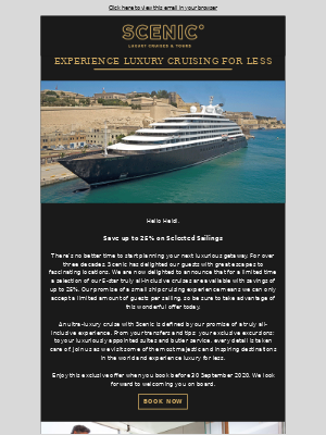 Scenic UK - Heidi, save up to 25% on an ultra-luxury cruise