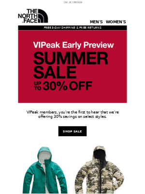 Summer Sale, VIPeak early preview