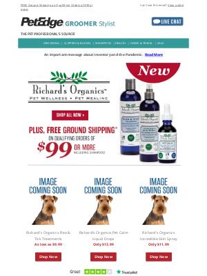 PetEdge - New Richard's Organics Pet Wellness is Here
