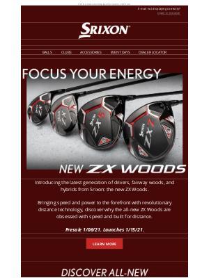 Srixon - Introducing the All-New ZX Woods | Srixon