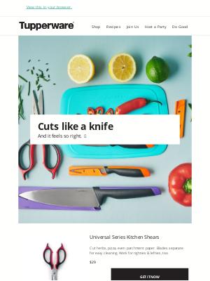 Tupperware - Cuts like a knife