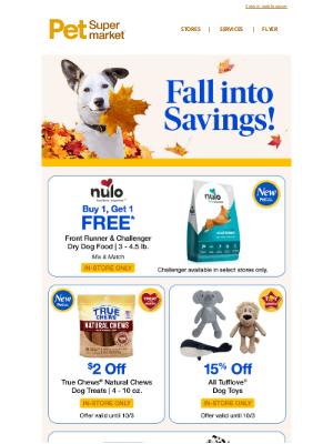 Pet Supermarket - Fall into Savings 🍂 Shop Deals Now!