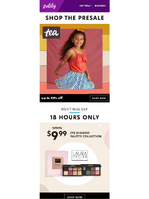 Zulily - Tea Collection up to 55% off + $9.99 Laura Geller eye shadow palettes