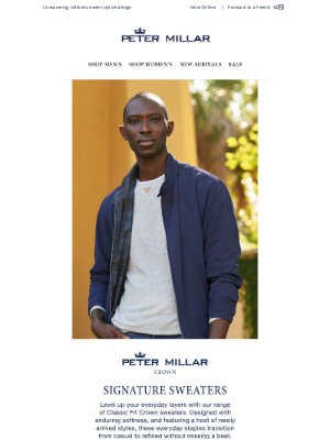Peter Millar - Explore New Styles And Iconic Expression In Crown Sweaters