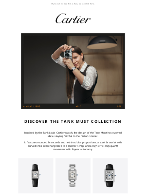 Cartier - Unveiling the new Tank Must