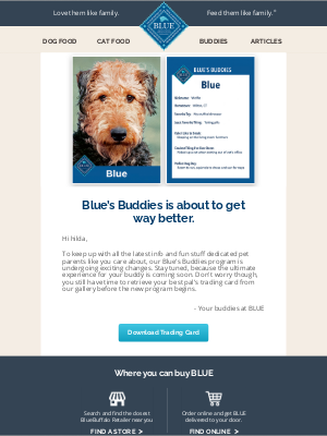 Blue Buffalo - News you'll want to get your paws on!