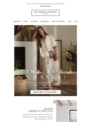 The White Company - Time for a change? New arrivals this way