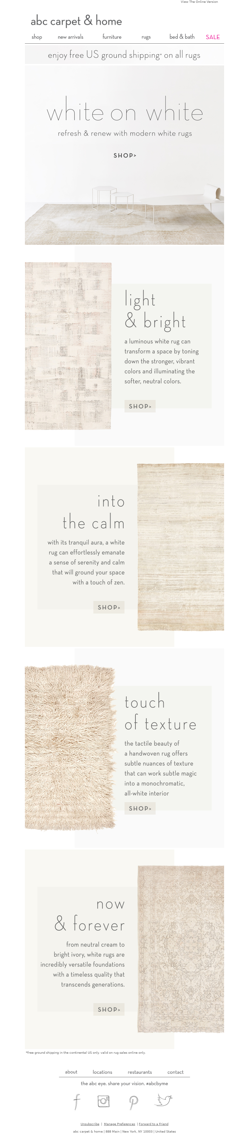 Labor Day Email Template from ABC Carpet & Home