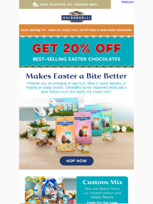 Ghirardelli Chocolate Company - Easter is next Sunday: Get Free Standard Shipping for Easter