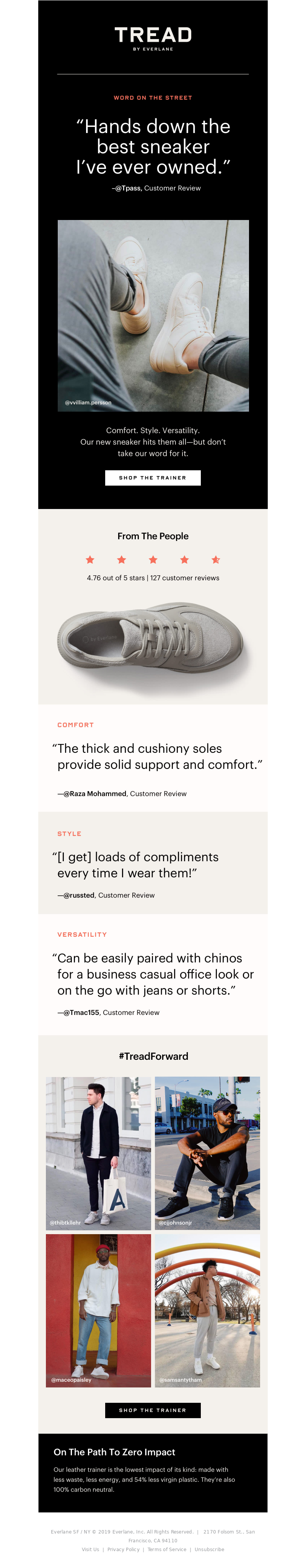 Everlane - Tread: The Reviews Are In