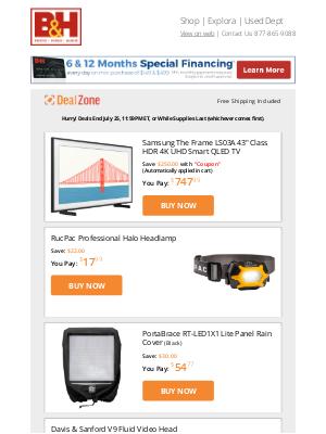 B&H Photo Video - Today's Deals: Samsung 43