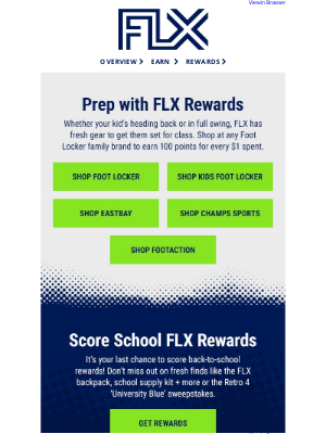 Foot Locker - Go Back to Class with FLX Rewards!