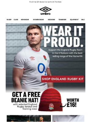 Umbro (UK) - England Rugby: Back In Stock!