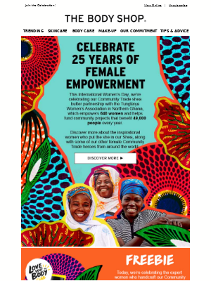 Celebrating female empowerment with Free Shea Giveaway
