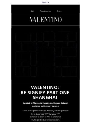 Valentino - Valentino: Re-Signify Part One Shanghai