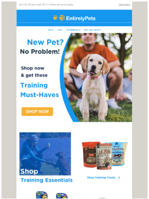 EntirelyPets - 🐾 🐶 New Pet? Save on these fun training products!