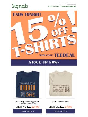☀️ Last Shot at 15% Off Shirts!