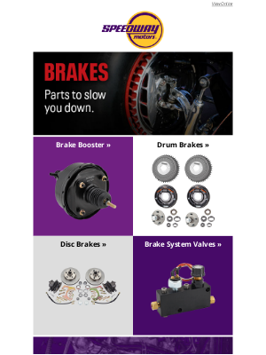 Speedway Motors - Brakes and Stopping Power