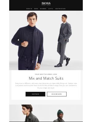 HUGO BOSS (UK) - BOSS Mix and Match suits