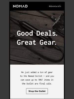Good Deals. Great Gear. Up to 70% off.