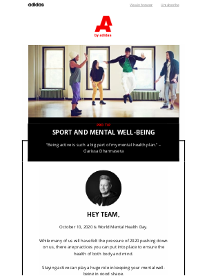 Adidas Group - The power of sport for a healthy mind