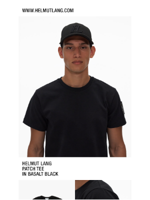 HELMUT LANG - Shop The Patch Tee in Basalt Black — Plus save up to 60% off sale